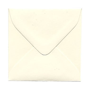 JAM Paper® Square Strathmore Wove Envelopes with Gum Closures, Natural White