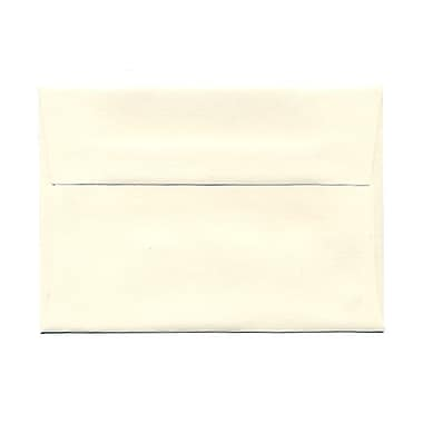 JAM Paper® 3 5/8in. x 5 1/8in. Booklet Strathmore Wove Envelopes w/Gum Closure, Natural White, 25/Pack