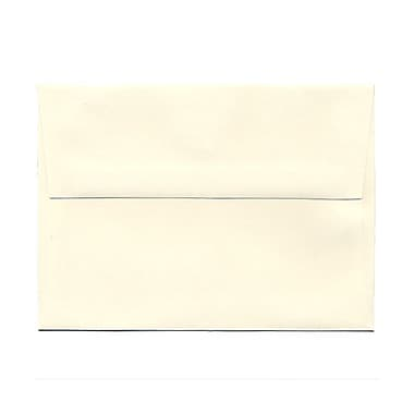JAM Paper® 4 3/4in. x 6 1/2in. Booklet Strathmore Wove Envelopes w/Gum Closure, Natural White, 25/Pack