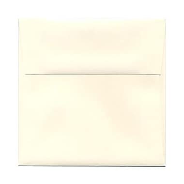 JAM Paper® 5.25 x 5.25 Square Envelopes, Strathmore Natural White Wove, 100/Pack (194506g)