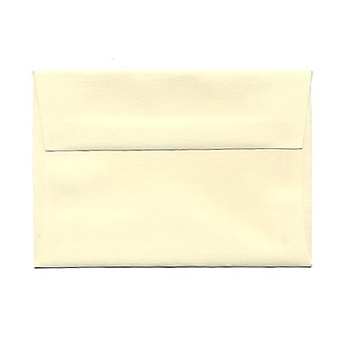 JAM Paper® 3 5/8in. x 5 1/8in. Booklet Strathmore Wove Envelopes w/Gum Closure, Ivory, 25/Pack