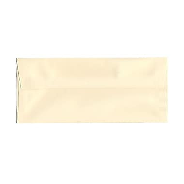JAM Paper® 4 1/8in. x 9 1/2in. Booklet Strathmore Wove Envelopes w/Gum Closure, Ivory, 25/Pack