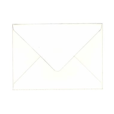 JAM Paper® A7 Invitation Envelopes, 5.25 x 7.25, 80lb Strathmore Bright White Wove with V-Flap, 100/Pack (1921392g)