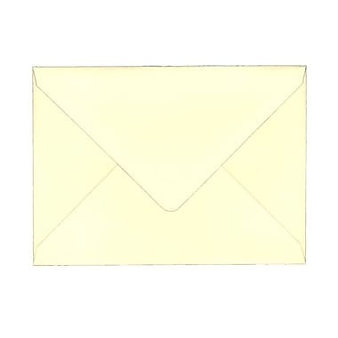 JAM Paper® A7 Invitation Envelopes, 5.25 x 7.25, 80lb Strathmore Ivory Laid with V-Flap, 100/Pack (1921402g)