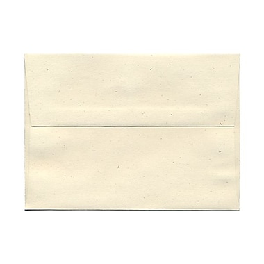 JAM Paper® A7 Invitation Envelopes, 5.25 x 7.25, Milkweed Ivory Recycled, 25/pack (3297)