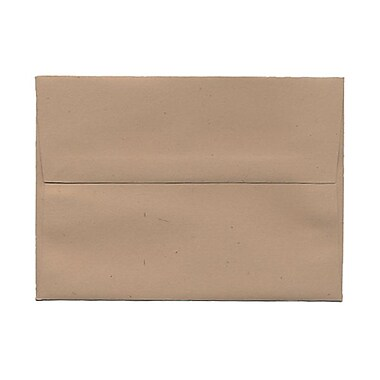 JAM Paper® A7 Invitation Envelopes, 5.25 x 7.25, Fossil Brown Recycled, 1000/Pack (22725B)