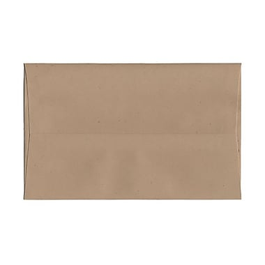 JAM Paper® A10 Invitation Envelopes, 6 x 9.5, Fossil Brown Recycled, 100/Pack (22753g)