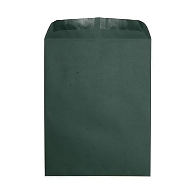 JAM Paper® 11.5 x 14.5 Open End Envelopes, Dark Green, 100/Pack (0913746B)