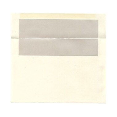 JAM Paper® A9 Foil Lined Envelopes, 5.75 x 8.75, Ivory with Ivory Lining, 100/Pack (532412544g)