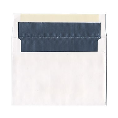 JAM Paper® 6 x 8 Foil Lined Envelopes, White with Silver Lining, 100/Pack (3243675g)