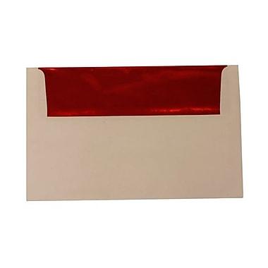 JAM PaperMD – Enveloppes avec revêtement intérieur et fermeture gommée, 6 x 9 1/2 po, blanc avec intérieur rouge, paq./100