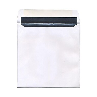 JAM Paper® 8.5 x 8.5 Square Foil Lined Envelopes, White with Silver Lining, 100/Pack (3244691g)