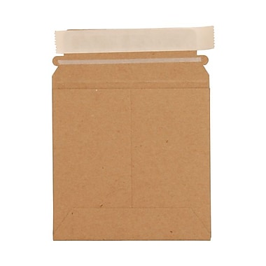 JAM Paper® 6in. x 6in. Kraft Paper Recycled Photo Mailers Envelopes With Peel and Seal Closure, Brown