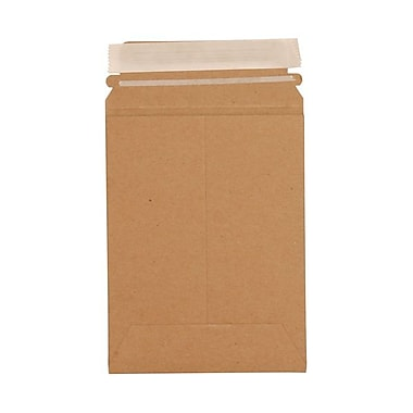 JAM Paper® 6in. x 8in. Kraft Paper Recycled Photo Mailers Envelopes With Peel and Seal Closure, Brown