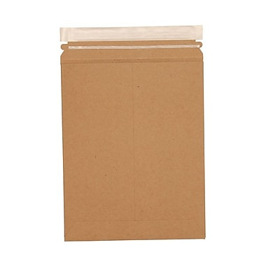 JAM Paper® 9in. x 11 1/2in. Kraft Paper Recycled Photo Mailers Envelopes With Peel and Seal Closure, Brown