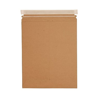 JAM Paper® 17in. x 21in. Kraft Paper Recycled Photo Mailers Envelopes With Peel and Seal Closure, Brown