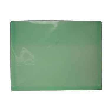 JAM Paper® Plastic Envelopes with VELCRO® Brand Closure, 1 Expansion, Letter Booklet, 9.75 x 13, Green Poly, 12/pack (218V1GR)