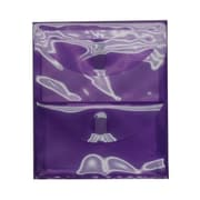 JAM Paper® Plastic 2 Pocket Envelopes, VELCRO® Brand Closure, Letter Open End, 9.75 x 11.75, Purple Poly, 1/pk (2163613481)
