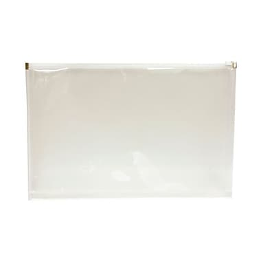 JAM Paper® Plastic Envelopes with Zip Closure, Legal Booklet, 9.75 x 14.5, Clear Poly, 12/Pack (219Z1CL)