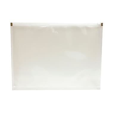 JAM Paper® 9 1/2in. x 12 1/2in. Letter Booklet Plastic Zip Closure Poly Envelopes, Clear, 12/Pack