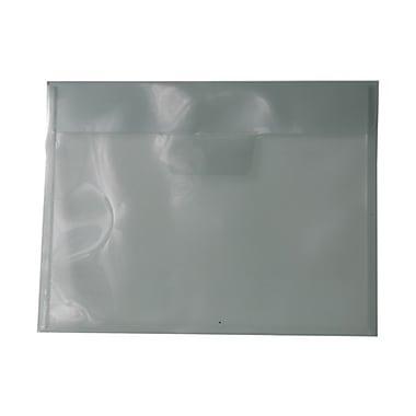 Jam PaperMD – Enveloppes en plastique avec fente à rabat, format lettre, 8 7/8 x 12 po, transp. foncé, 12/pqt