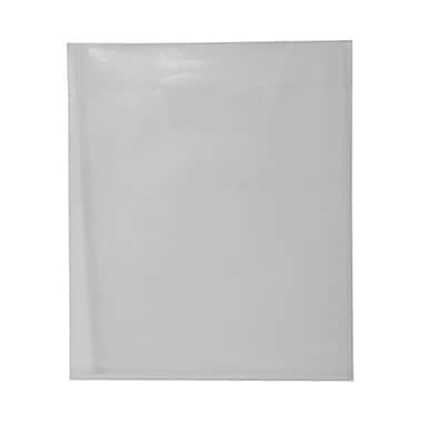 JAM Paper® Plastic Envelopes with Tuck Flap Closure, Letter Open End, 9.88 x 11.75, Clear Poly, 12/Pack (1541729)