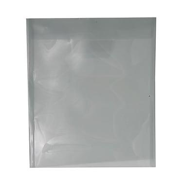 JAM PaperMD - Enveloppes en plastique avec ouverture au sommet et rabat à insertion, 9 7/8 x 11 3/4 po, gris fumée, 12/paq.