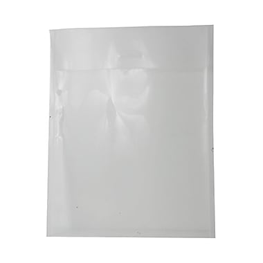 JAM Paper® 11in. x 14in. Open End Plastic Tuck Flap Closure Envelopes, Clear, 12/Pack
