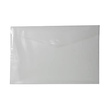 JAM Paper® Plastic Envelopes with Tuck Flap Closure, Booklet, 12 x 18, Clear Poly, 12/Pack (1541751)