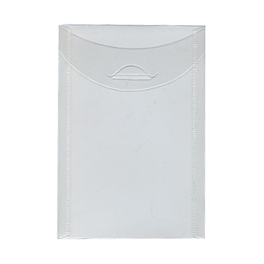 JAM Paper® Plastic Envelopes with Tuck Flap Closure, Open End, 4 1/8 x 6, Clear Poly, 24/Pack (1541745g)