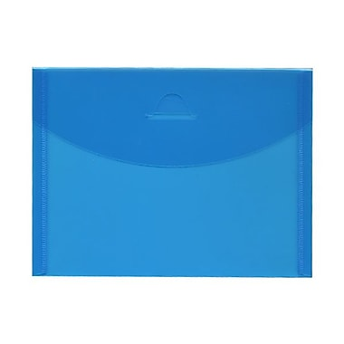 JAM Paper® Plastic Envelopes with Tuck Flap Closure, Booklet, 5.5 x 7.38, Blue Poly, 24/Pack (1541741g)