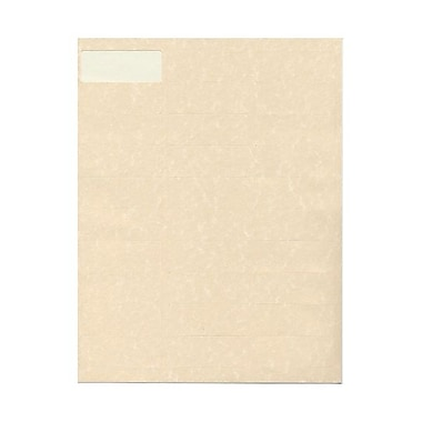JAM Paper® 2 5/8in. x 1in. Mailing Address Labels, Natural, 30/Page, 120/Pack