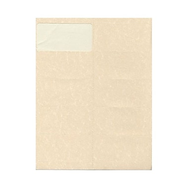 JAM Paper® 4in. x 2in. Mailing Address Labels, Natural, 10/Page, 120/Pack
