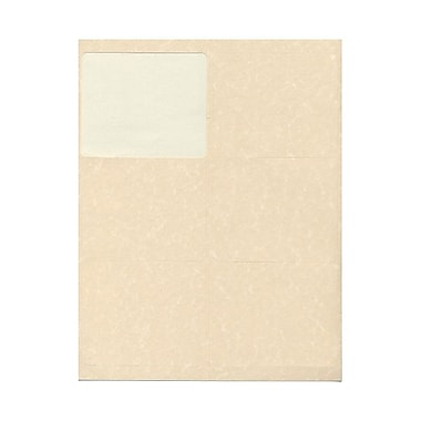 JAM Paper® 4in. x 3 1/3in. Mailing Address Labels, Natural Parchment, 6/Page, 120/Pack