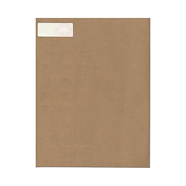 JAM Paper® 2 5/8in. x 1in. Mailing Address Labels, Recycled Brown Kraft, 30/Page, 120/Pack