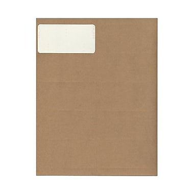 JAM Paper® 4in. x 2in. Mailing Address Labels, Recycled Brown Kraft, 10/Page, 120/Pack