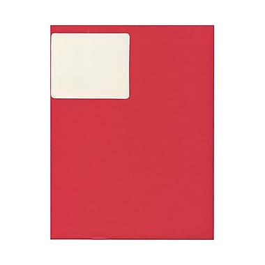 JAM Paper® 4in. x 2in. Mailing Address Labels, Red Kraft, 10/Page, 120/Pack
