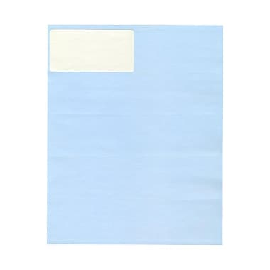 JAM Paper® 4in. x 2in. Mailing Address Labels, Baby Blue, 10/Page, 120/Pack