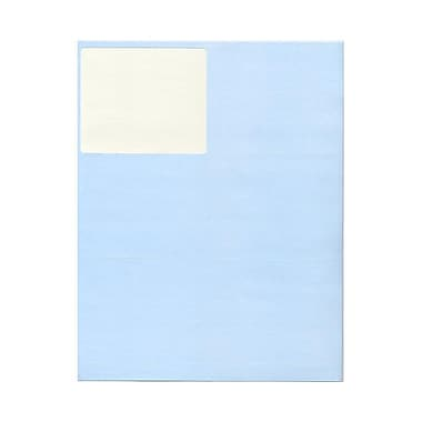 JAM Paper® 4in. x 3 1/3in. Mailing Address Labels, Baby Blue, 6/Page, 120/Pack
