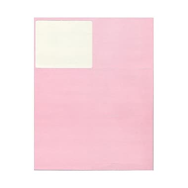 JAM Paper® 4in. x 3 1/3in. Mailing Address Labels, Baby Pink, 6/Page, 120/Pack