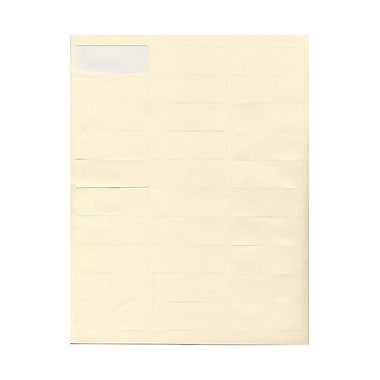 JAM Paper® 2 5/8in. x 1in. Mailing Address Labels, Ivory, 30/Page, 120/Pack
