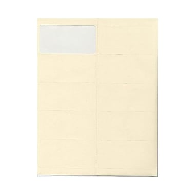 JAM Paper® 4in. x 2in. Mailing Address Labels, Ivory, 10/Page, 120/Pack
