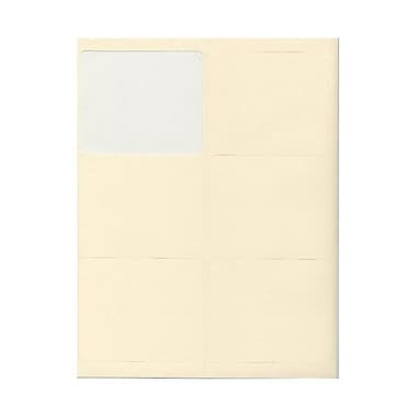JAM Paper® 4in. x 3 1/3in. Mailing Address Labels, Ivory, 6/Page, 120/Pack