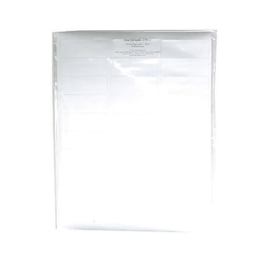 JAM Paper® 2 5/8in. x 1in. Foil Matte Mailing Address Labels, Silver, 30/Page, 120/Pack