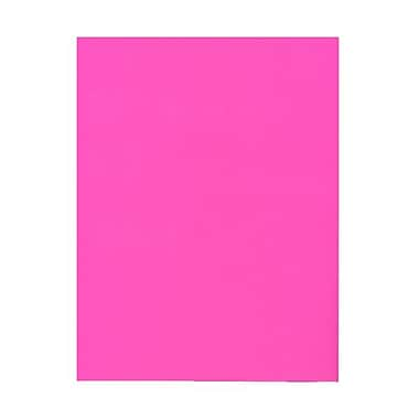 JAM Paper® 8 1/2in. x 11in. Smooth Brite Hue Recycled Paper, Ultra Fuchsia Pink, 100 Sheets/Pack