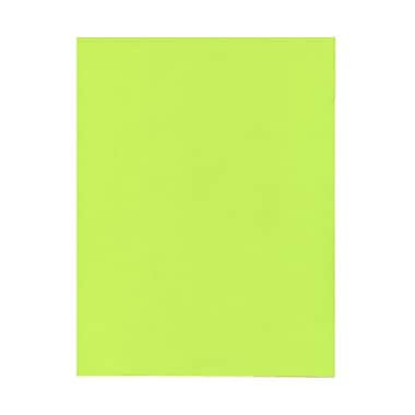 JAM Paper® 8 1/2in. x 11in. Smooth Brite Hue Recycled Paper, Ultra Lime Green, 100 Sheets/Pack