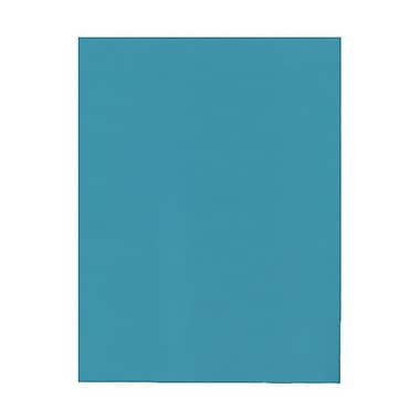 JAM Paper® 8 1/2in. x 11in. Smooth Brite Hue Recycled Paper, Sea Blue, 100 Sheets/Pack