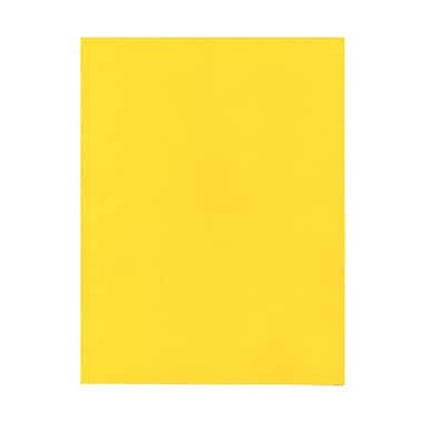 JAM Paper® 8 1/2in. x 11in. Smooth Brite Hue Recycled Paper, Yellow, 100 Sheets/Pack