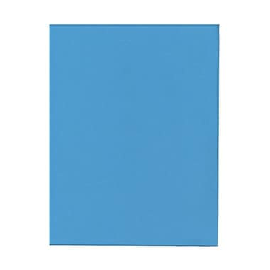 JAM Paper® 8 1/2in. x 11in. Smooth Brite Hue Recycled Paper, Blue, 100 Sheets/Pack