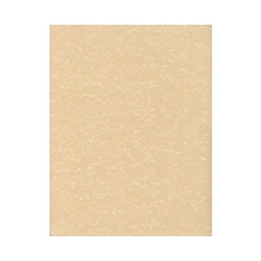 JAM Paper® 8 1/2in. x 11in. 65 lb.. Parchment Recycled Cover Cardstock, Brown, 50 Sheets/Pack